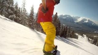 Descente en snowboard : Lac Louise