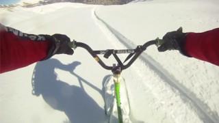 Hors piste en Snowscoot !