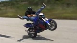 Stunt moto en amateur