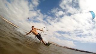 Kitesurf amateur à l'île de Fortaventure