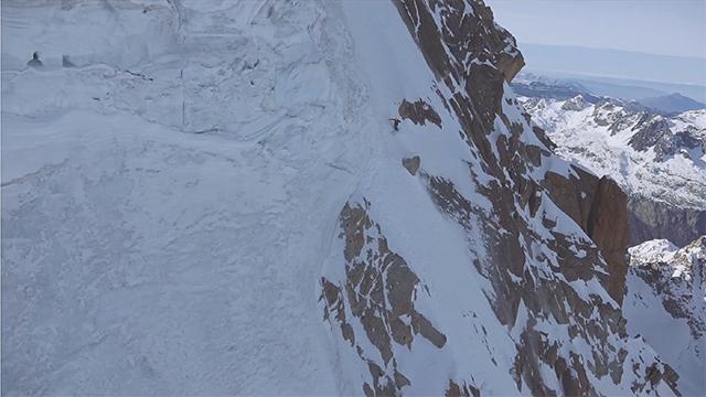 ski en pente raide