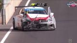 Crash WTCC 2014 : Mehdi Bennani et Tom Coronel