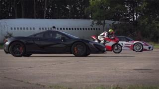 Ducati 1199 Superleggera vs. McLaren P1 vs. Porsche 918 Spyder