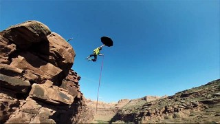 GoPro : Sauter d'un canyon de 76 mètres !