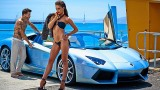 Nicole Meyer et une Lamborghini Aventador