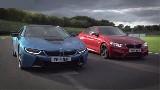 Défi sur circuit : BMW i8 VS BMW M4