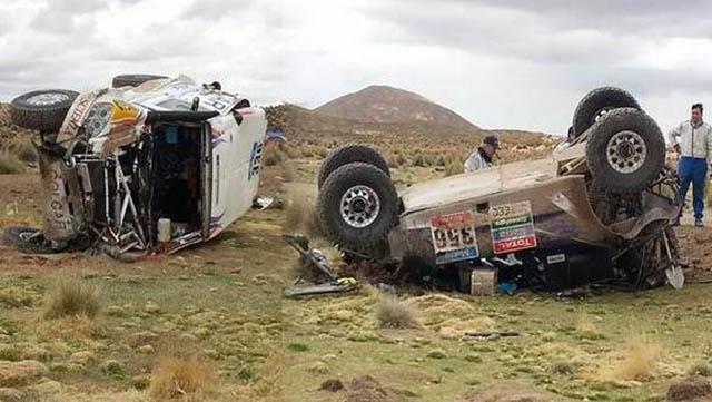 double crash dakar 2015