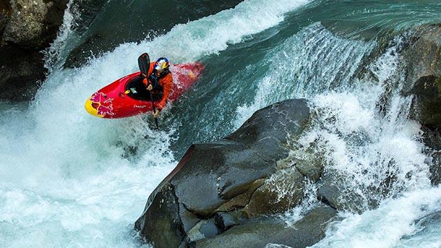chute en kayak
