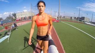 Saut à la perche en GoPro avec Allison Stokke