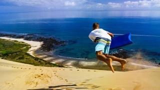 Surf sur des dunes en Nouvelle-Zélande !