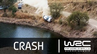 Crash de Ott Tänak au Rallye du Mexique 2015