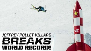 Joffrey Pollet-Villard explose le record du monde de hauteur au half-pipe