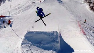 Session Ski Freestyle filmée en drone !