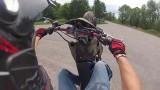 Stunt moto en Derbi 50cc