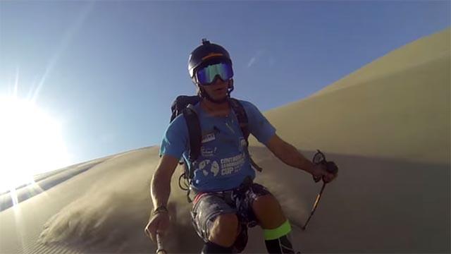 ski sur le sable