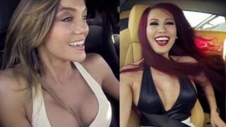 Trois filles sexy à bord de supercars sur piste !