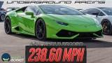 Record du monde de vitesse en Lamborghini Huracan : 384km/h !