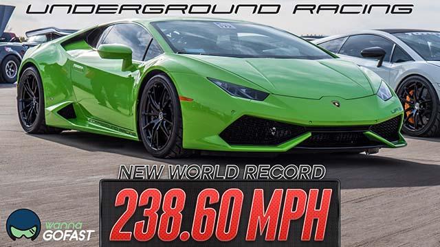 Record du monde de vitesse en Lamborghini Huracan
