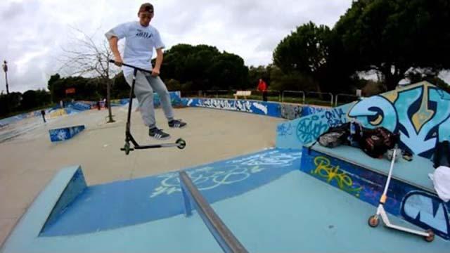 Trottinette freestyle : Antoine Gossuin