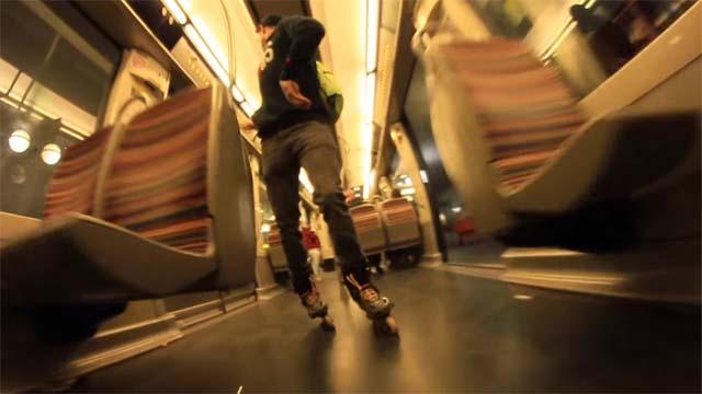 Session Roller Street dans le métro Parisien