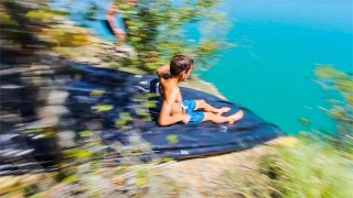 Le Cliff Slip and Slide made in France !