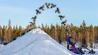 Daniel Bodin exécute le premier double backflip en snowmobile !
