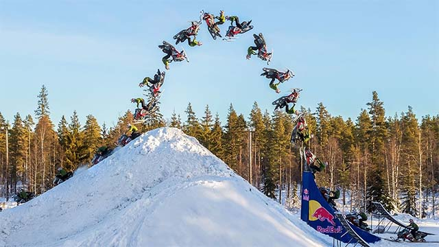 daniel bodin premier double backflip snowmobile