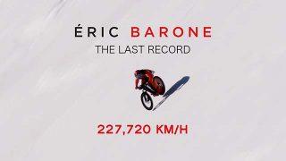 Eric Barone explose le record du monde vitesse VTT sur neige !