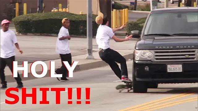 pires chutes skateboard