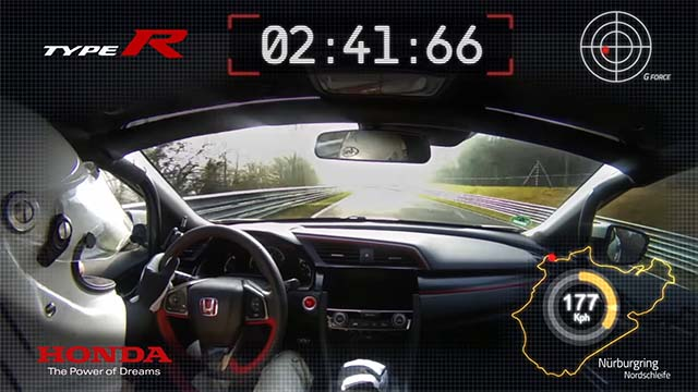 record honda civic type r 2017 nurburgring