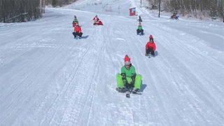 Traîneaux 3 skis au Parc Du Mont Hatley