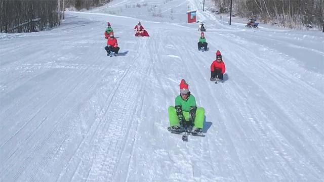 traineaux 3 skis parc mont hatley