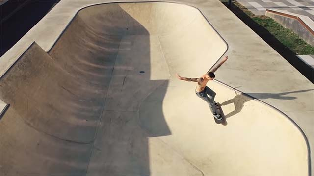 film skate plan sequence drone